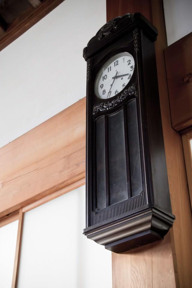 古い壁掛け時計の写真