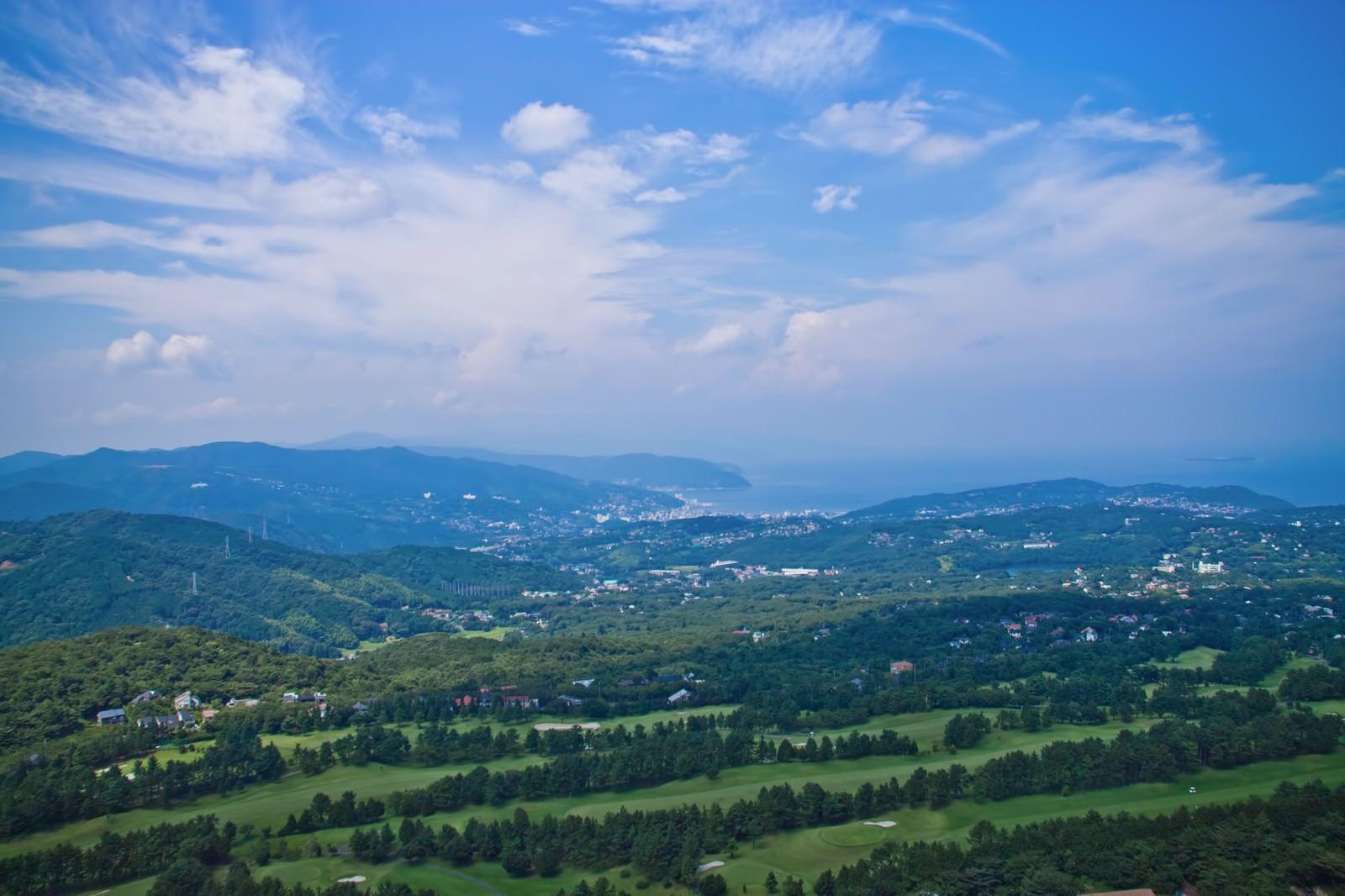 「大室山からの景色」の写真