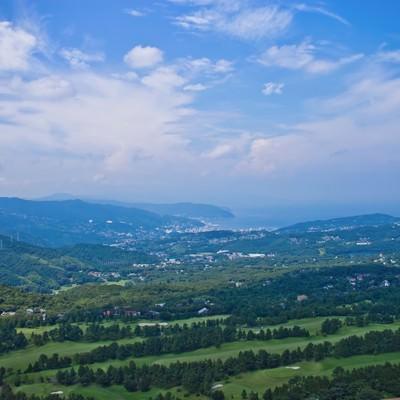 「大室山からの景色」の写真素材