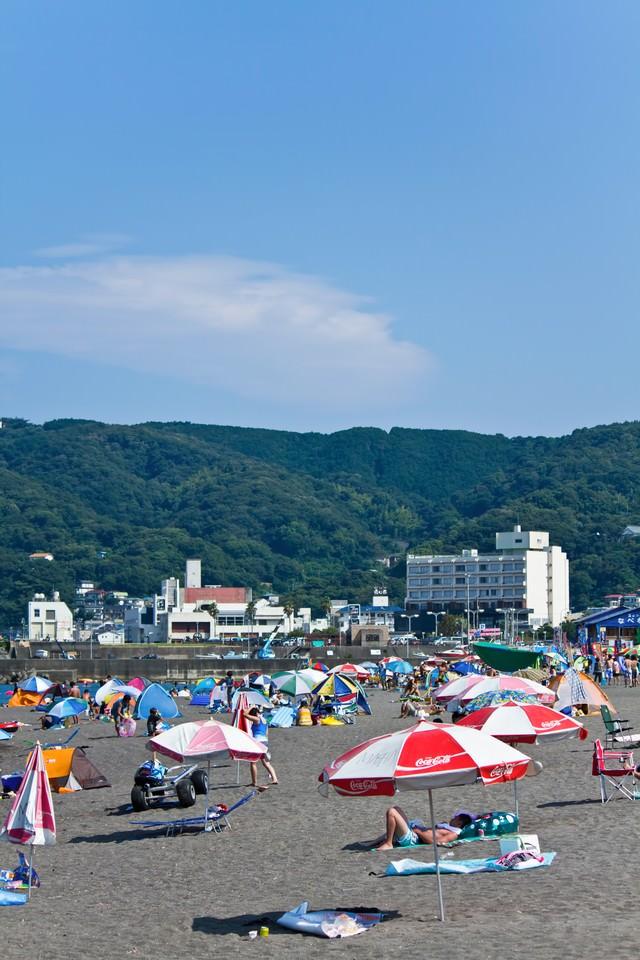 真夏のビーチの写真