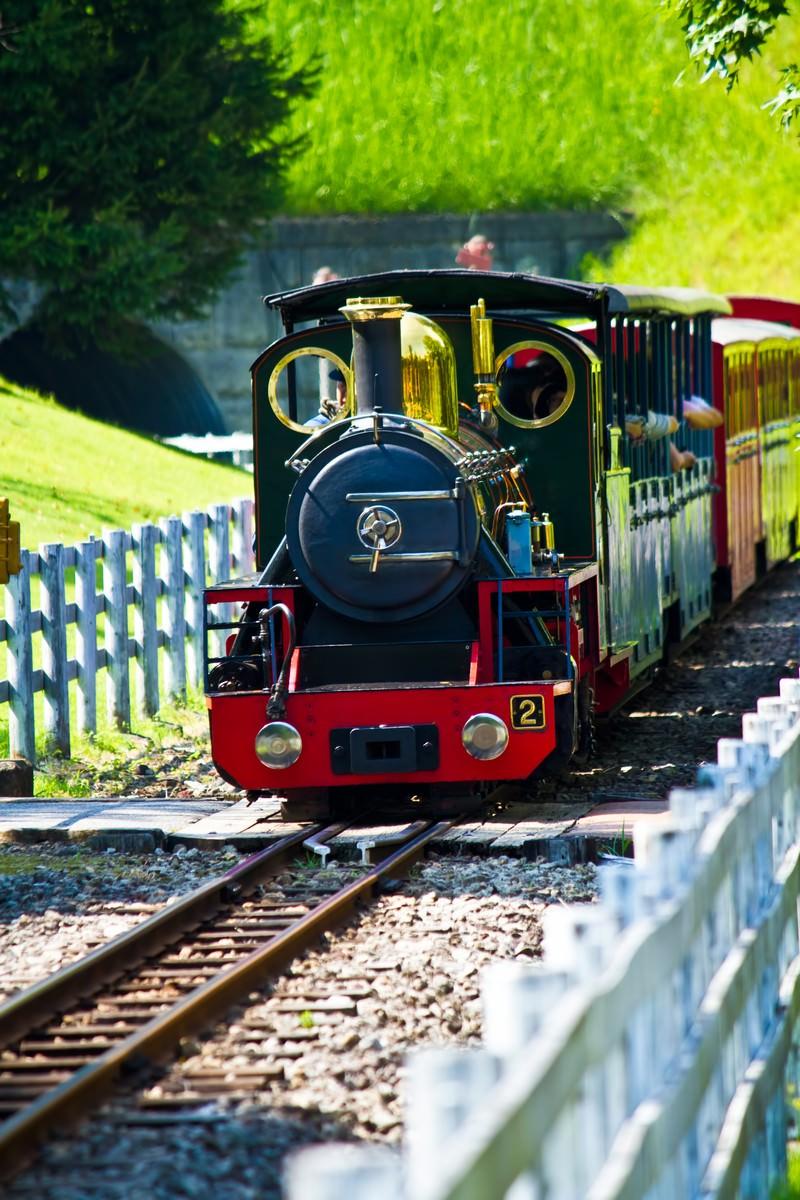 「小さいSLの電車」の写真