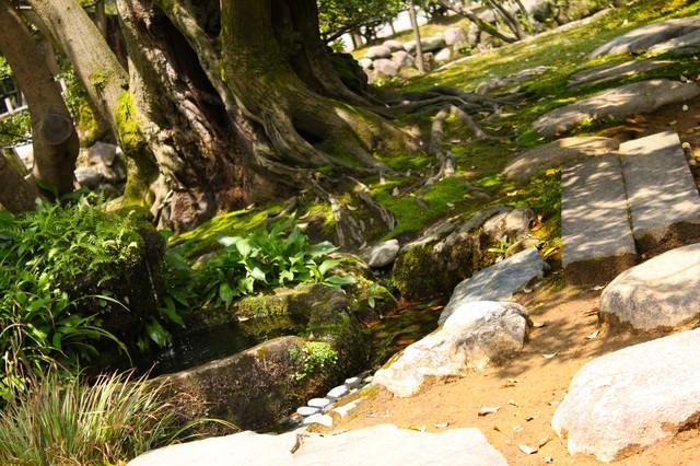 日本庭園の小道の写真