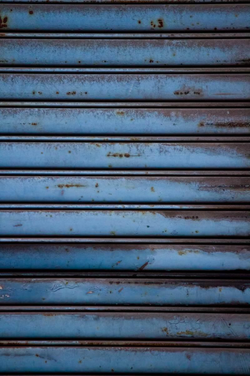 「錆びたシャッター」の写真