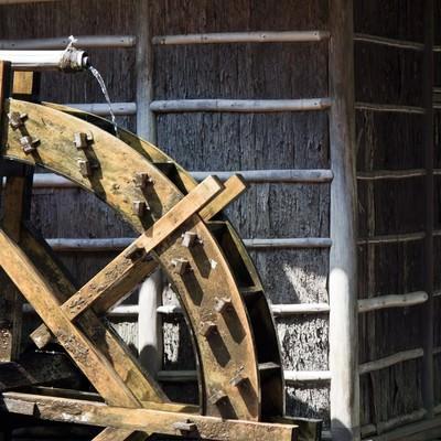 「水車小屋」の写真素材