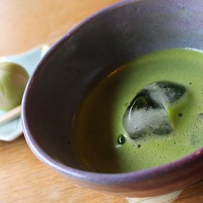 「抹茶と和菓子」の写真素材