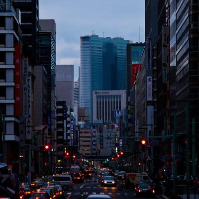 「日本橋のオフィス街」の写真素材