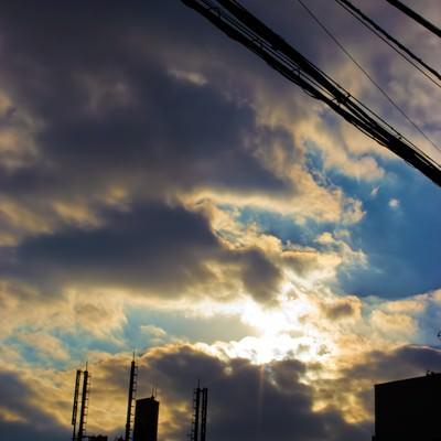「夕暮れの空模様」の写真素材