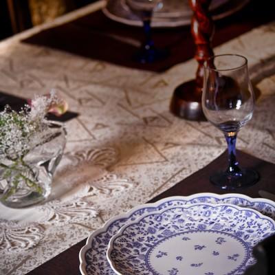 「テーブルセッティング」の写真素材