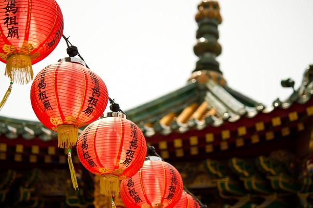 横浜中華街の提灯の写真