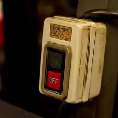 「古い電源ボタン」の写真素材