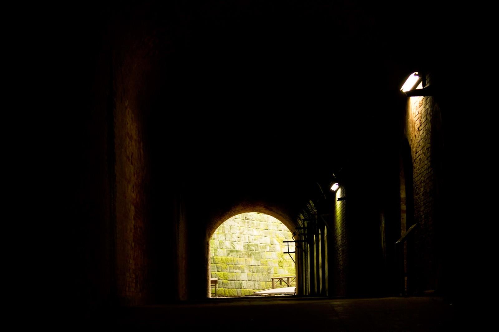 「猿島の洞窟(防空壕)」の写真