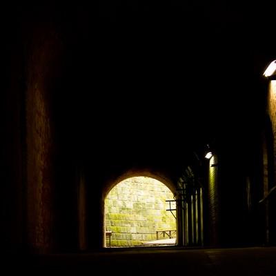 「猿島の洞窟(防空壕)」の写真素材