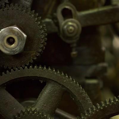 旋盤の歯車(ギア)の写真