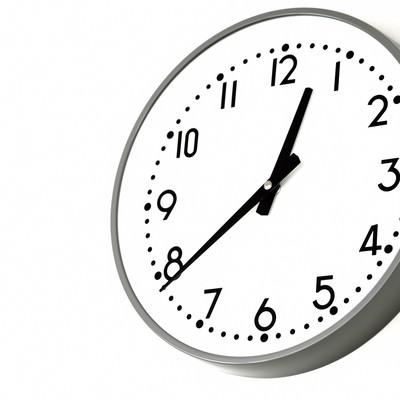 「業務用の掛け時計」の写真素材