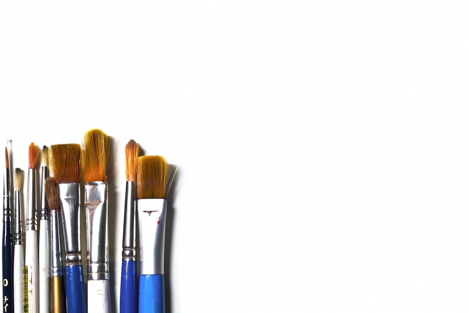 「色々な絵筆」の写真