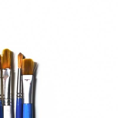 「色々な絵筆」の写真素材