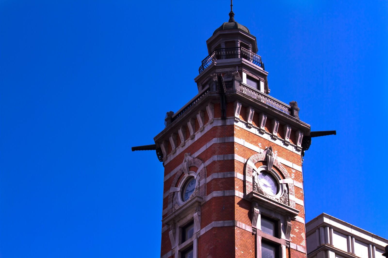 「横浜開港記念館の時計塔」の写真