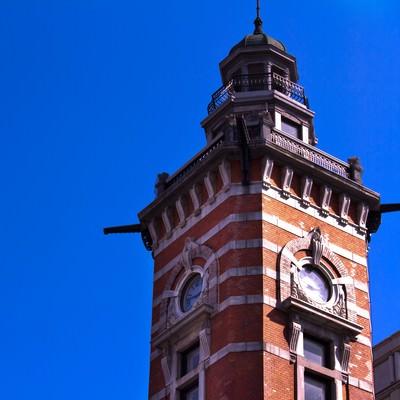 「横浜開港記念館の時計塔」の写真素材