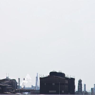 「工業地帯の工場」の写真素材