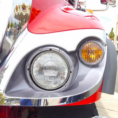 「外車のヘッドライト」の写真素材
