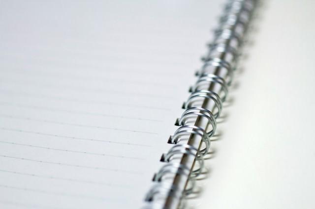メモに使うリングノートの写真