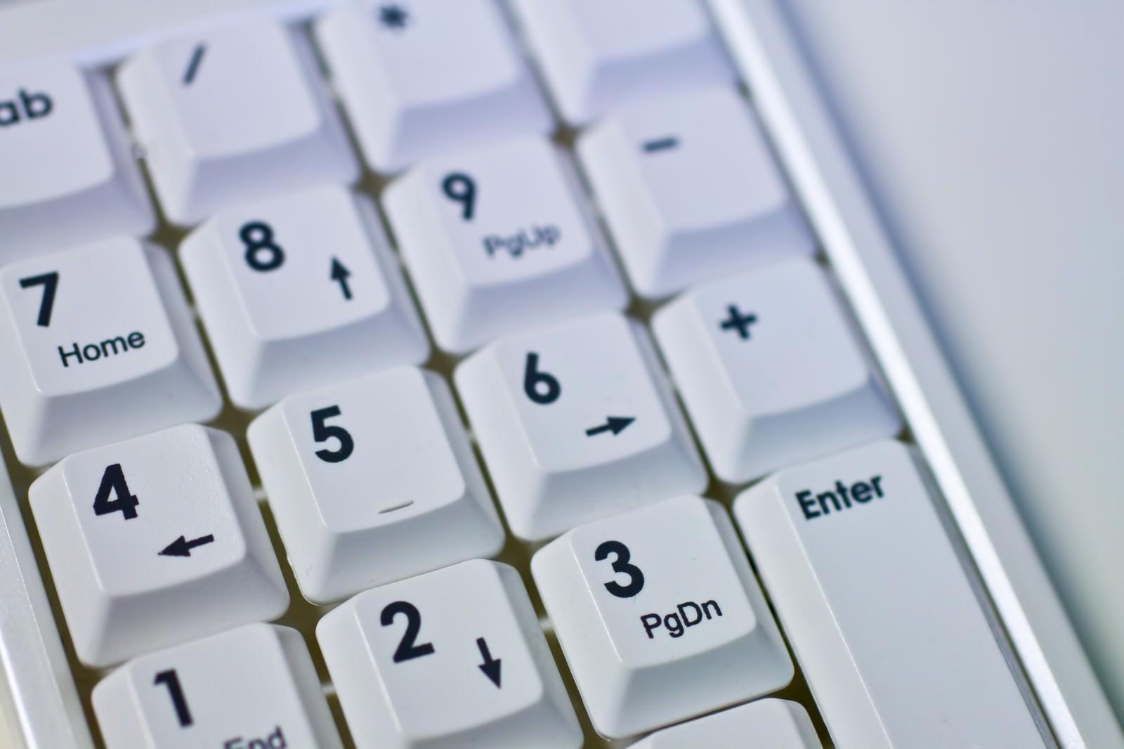 「パソコンのテンキー」の写真