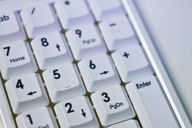 パソコンのテンキーの写真