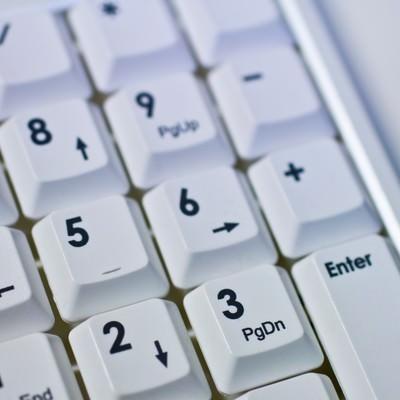 「パソコンのテンキー」の写真素材
