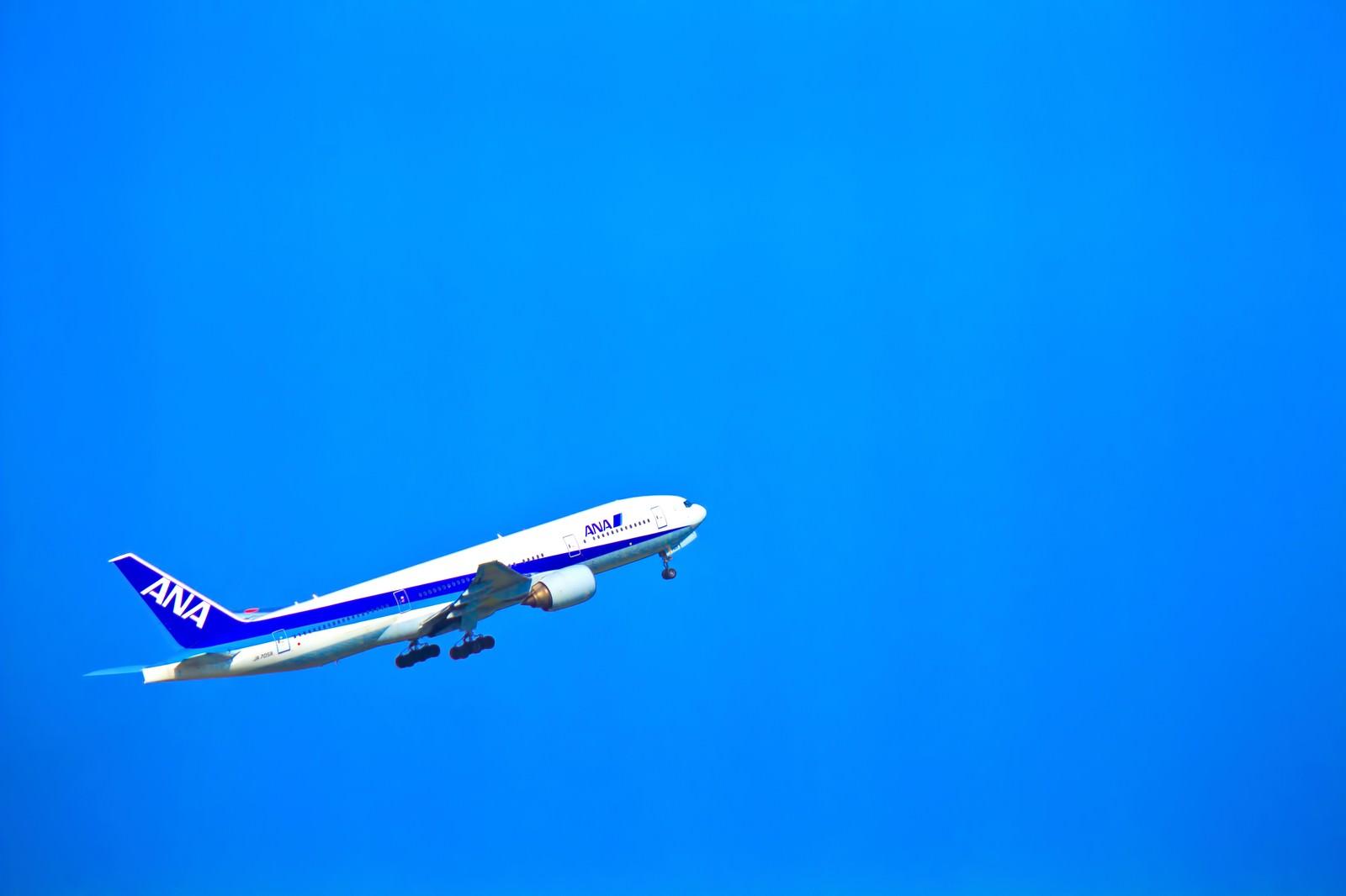 「飛び立つ飛行機」の写真