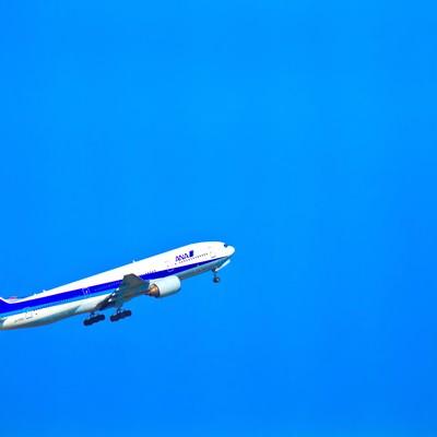 「飛び立つ飛行機」の写真素材