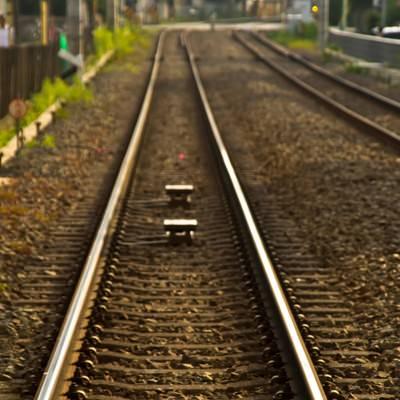 「東横線の線路」の写真素材