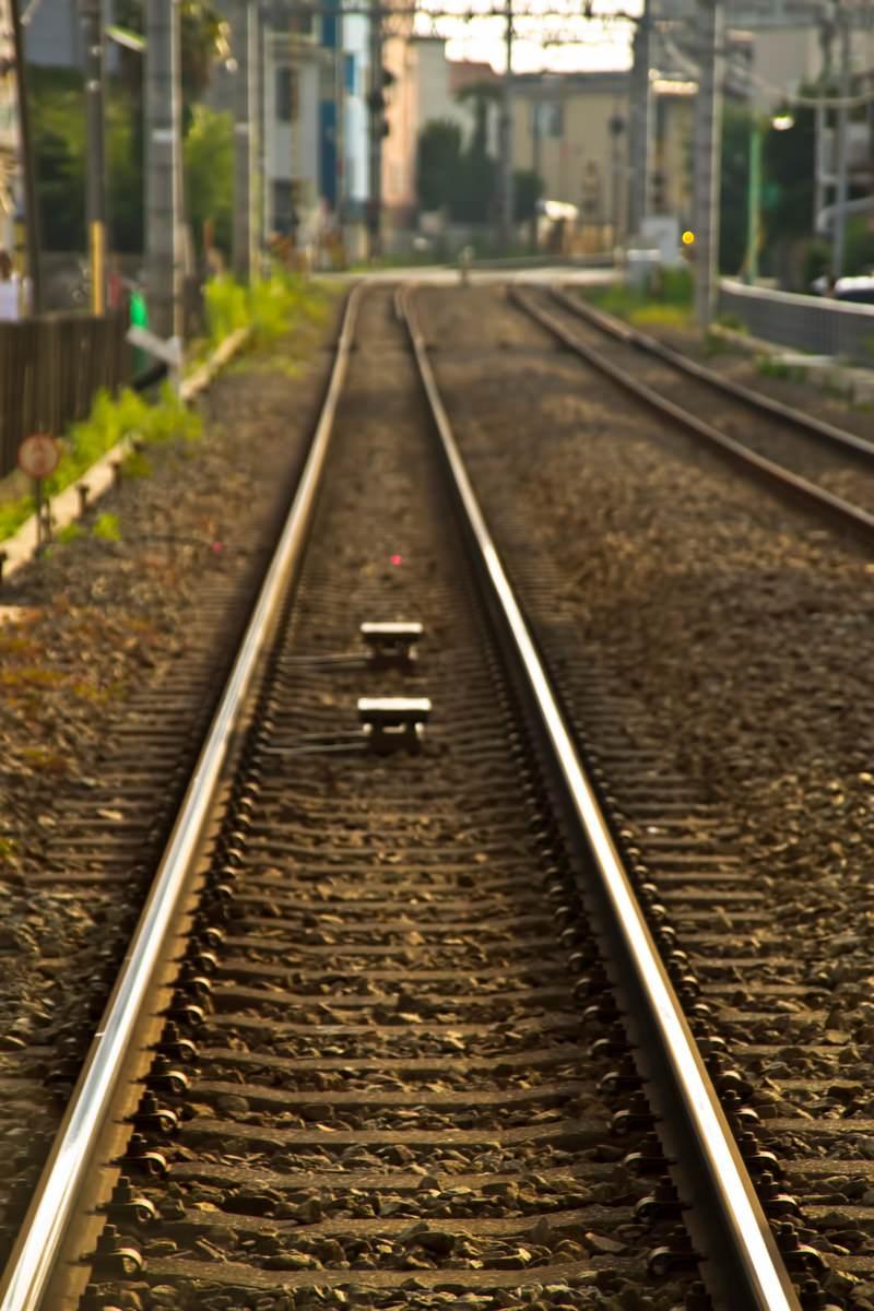 「東横線の線路」の写真