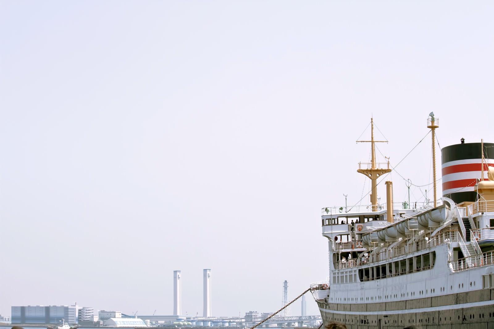 「山下公園の氷川丸」の写真