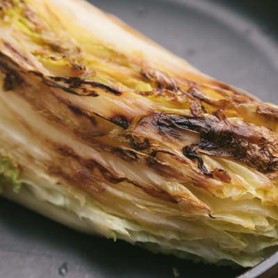「白菜の表面をこんがいと焼く」の写真素材