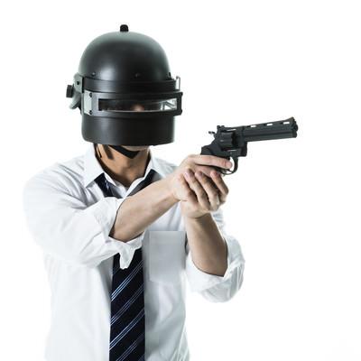 拳銃を現地調達した素人プレイヤーの写真