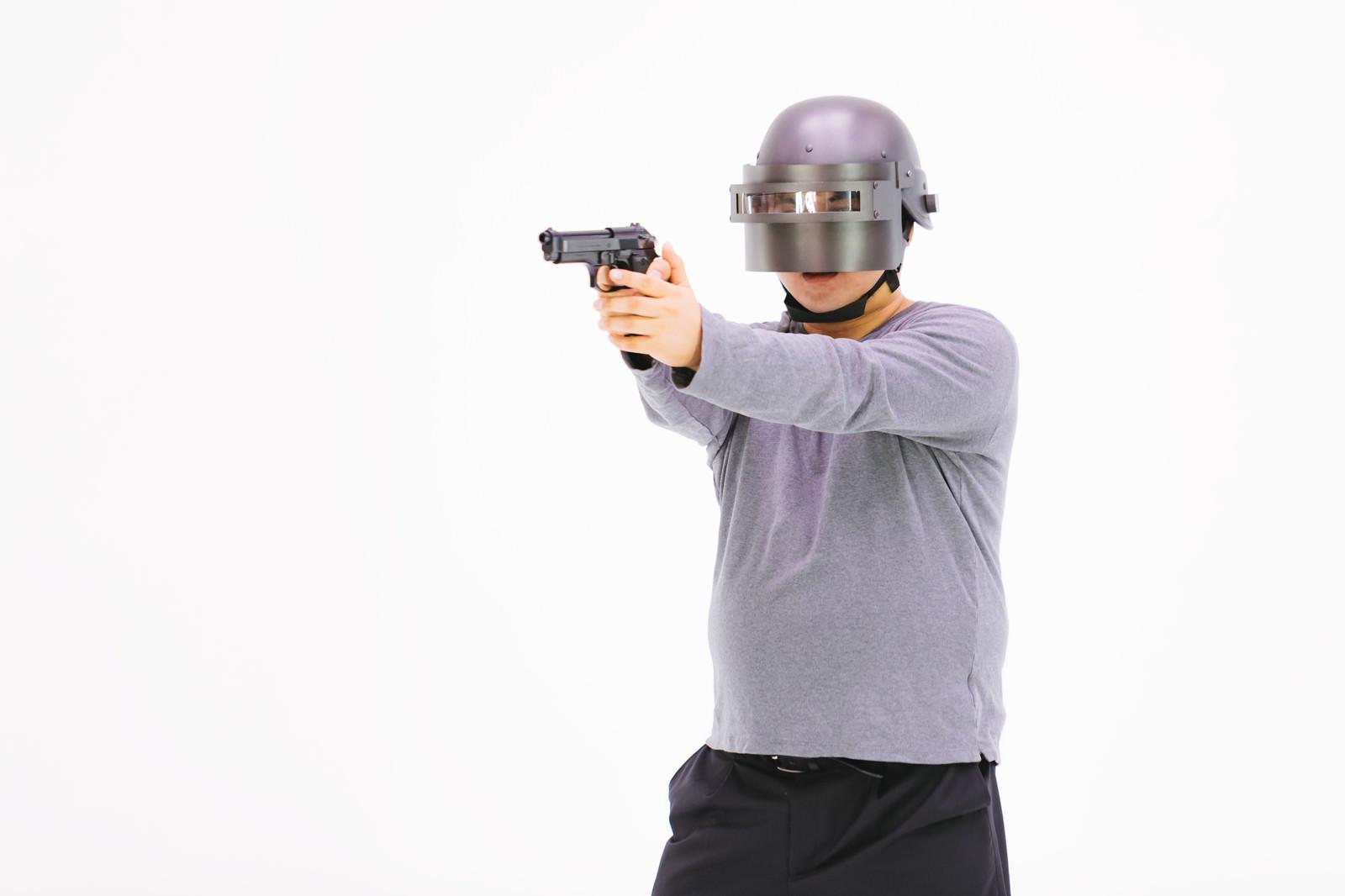「3ヘル手に入れたけど拳銃しか所持してないマン」[モデル:段田隼人]
