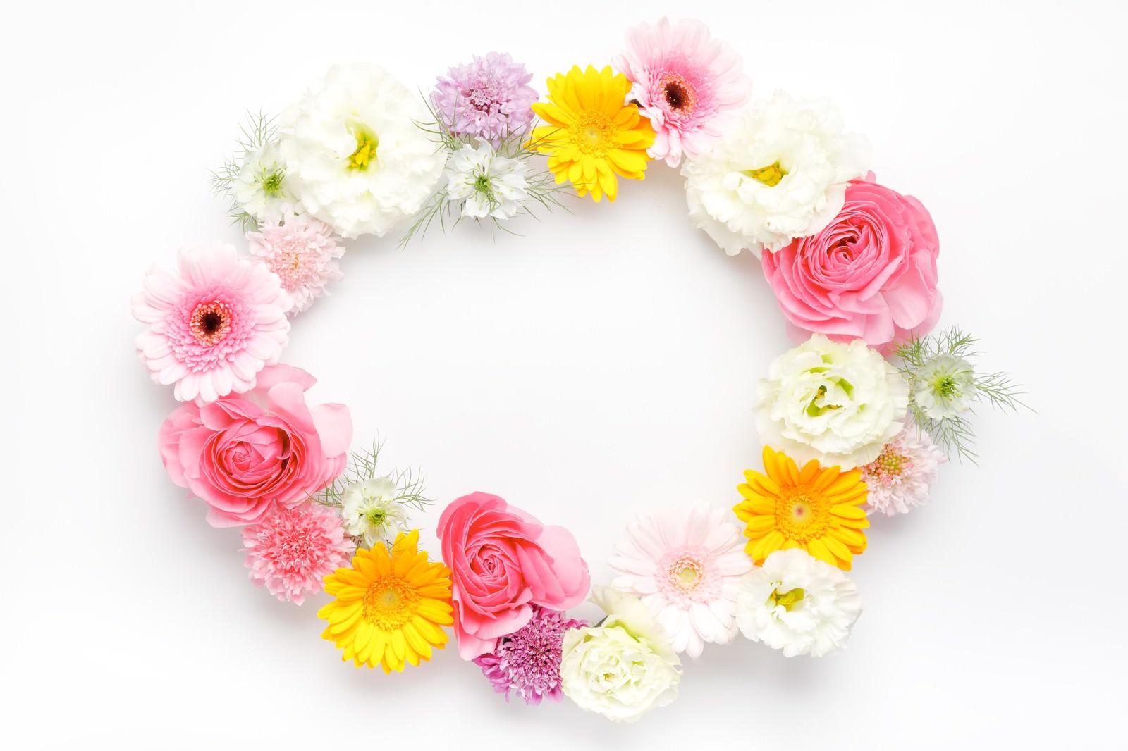 「お花の輪(楕円)」の写真
