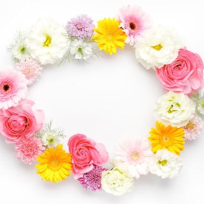 お花の輪(楕円)の写真