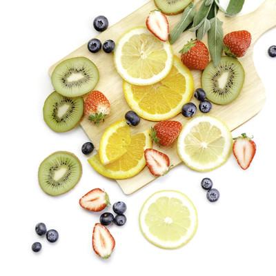 「ビタミンたっぷりの果物」の写真素材