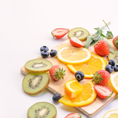 「美味しいフルーツ(マット)」の写真素材