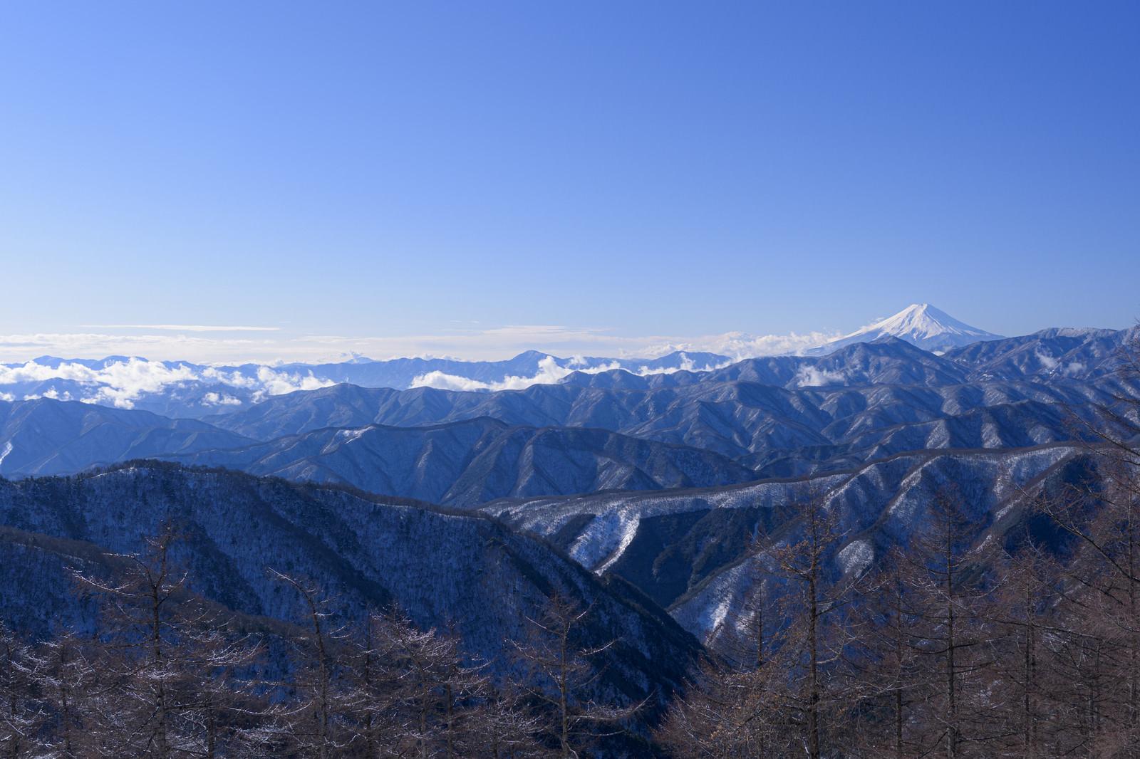 「澄んだ空気の奥秩父(雲取山)」の写真