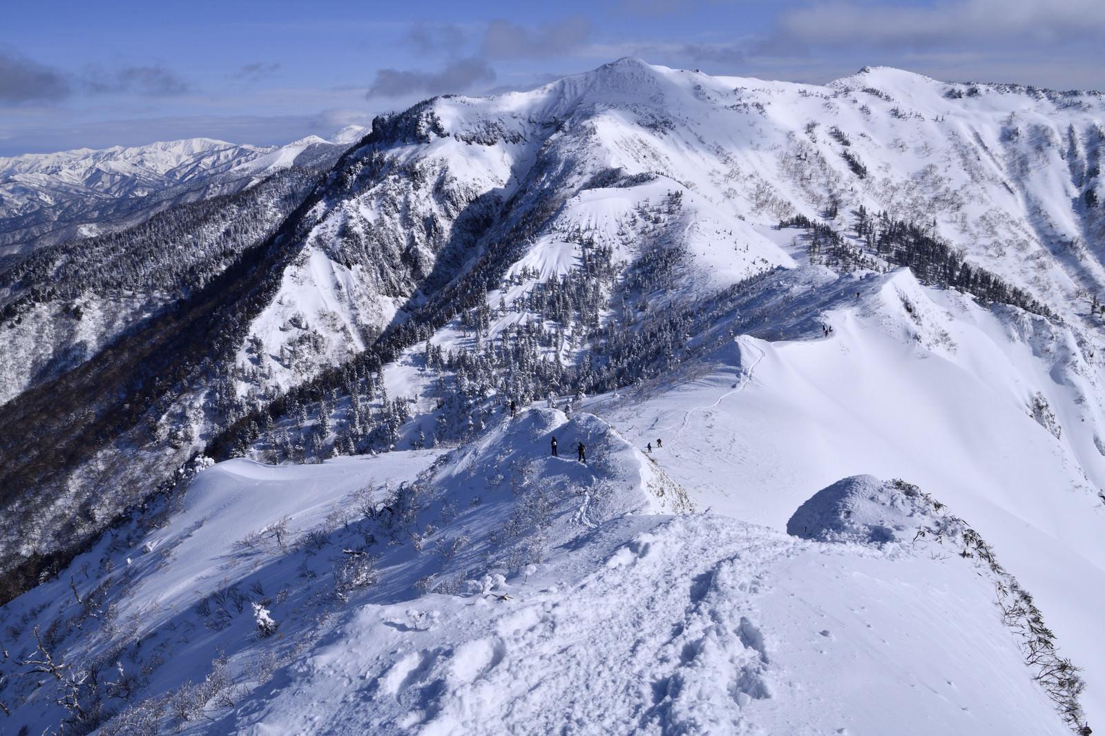 「厳冬の上州武尊山(じょうしゅうほたかやま)」の写真