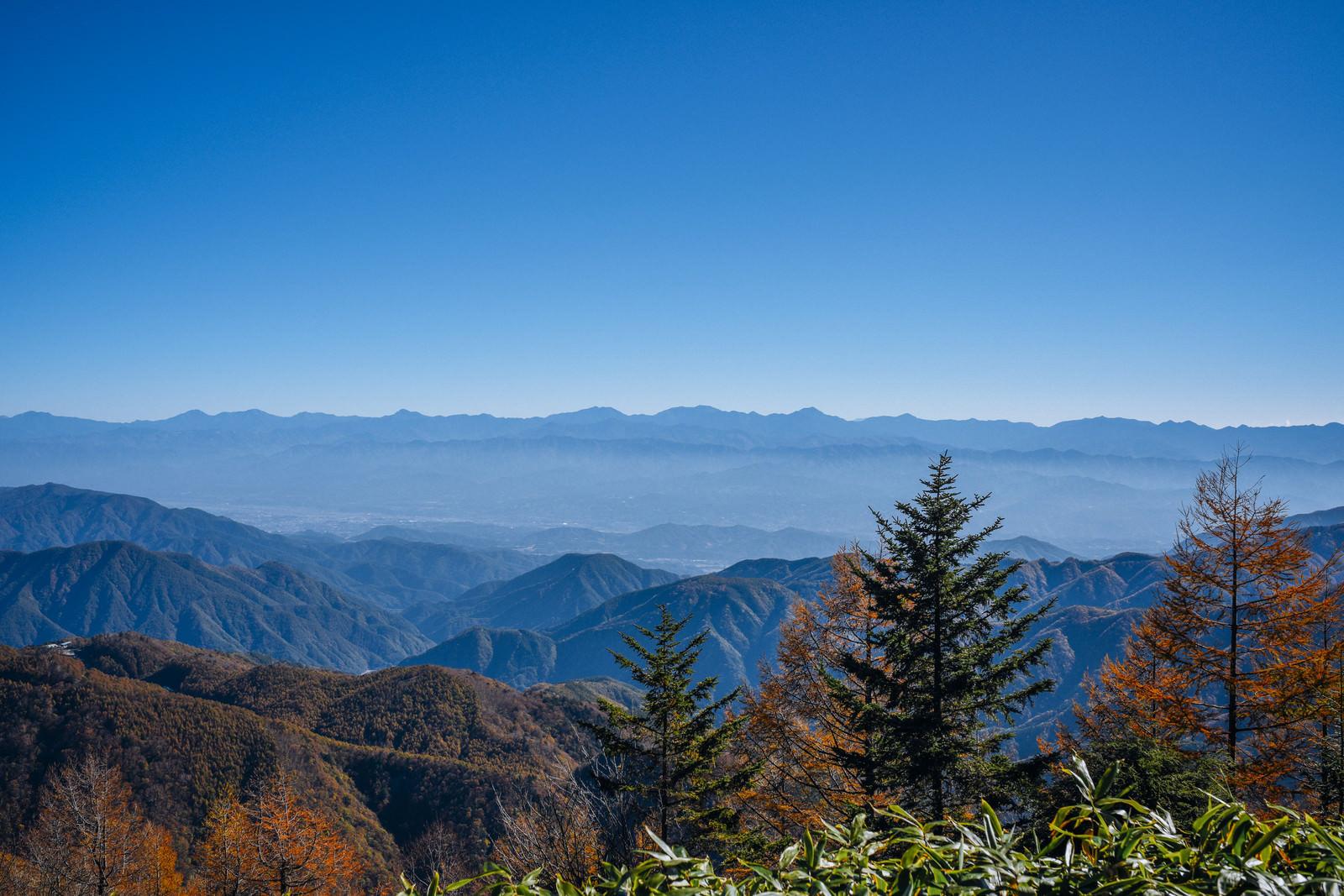 「恵那山から見る南アルプス方面」の写真