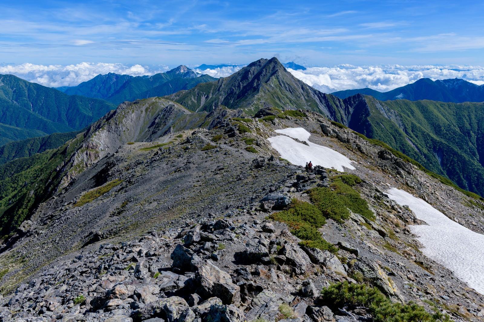 「北岳へと続く道」の写真