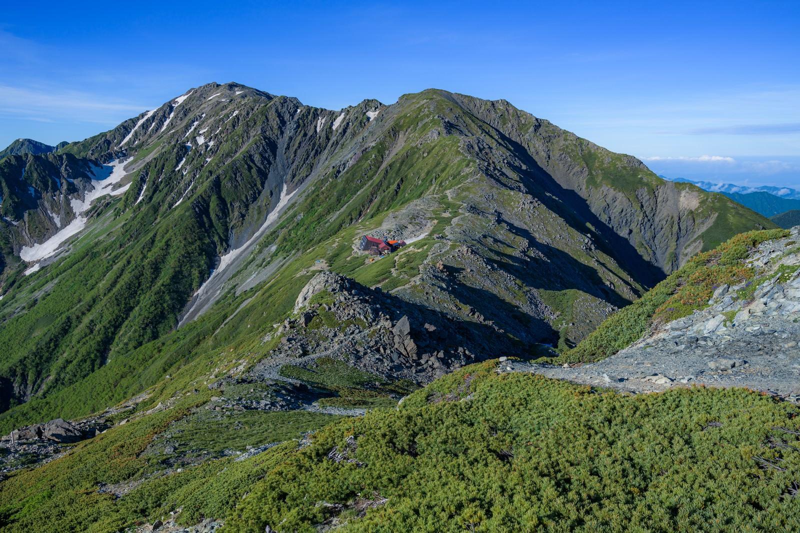 「南アルプスの稜線」の写真