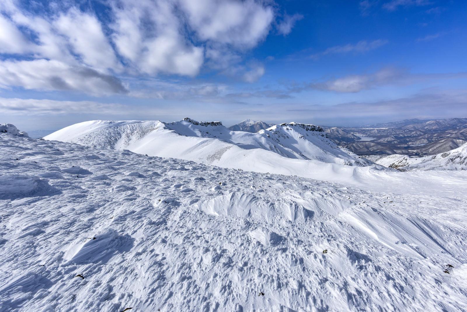「冬の安達太良山外輪の景色」の写真
