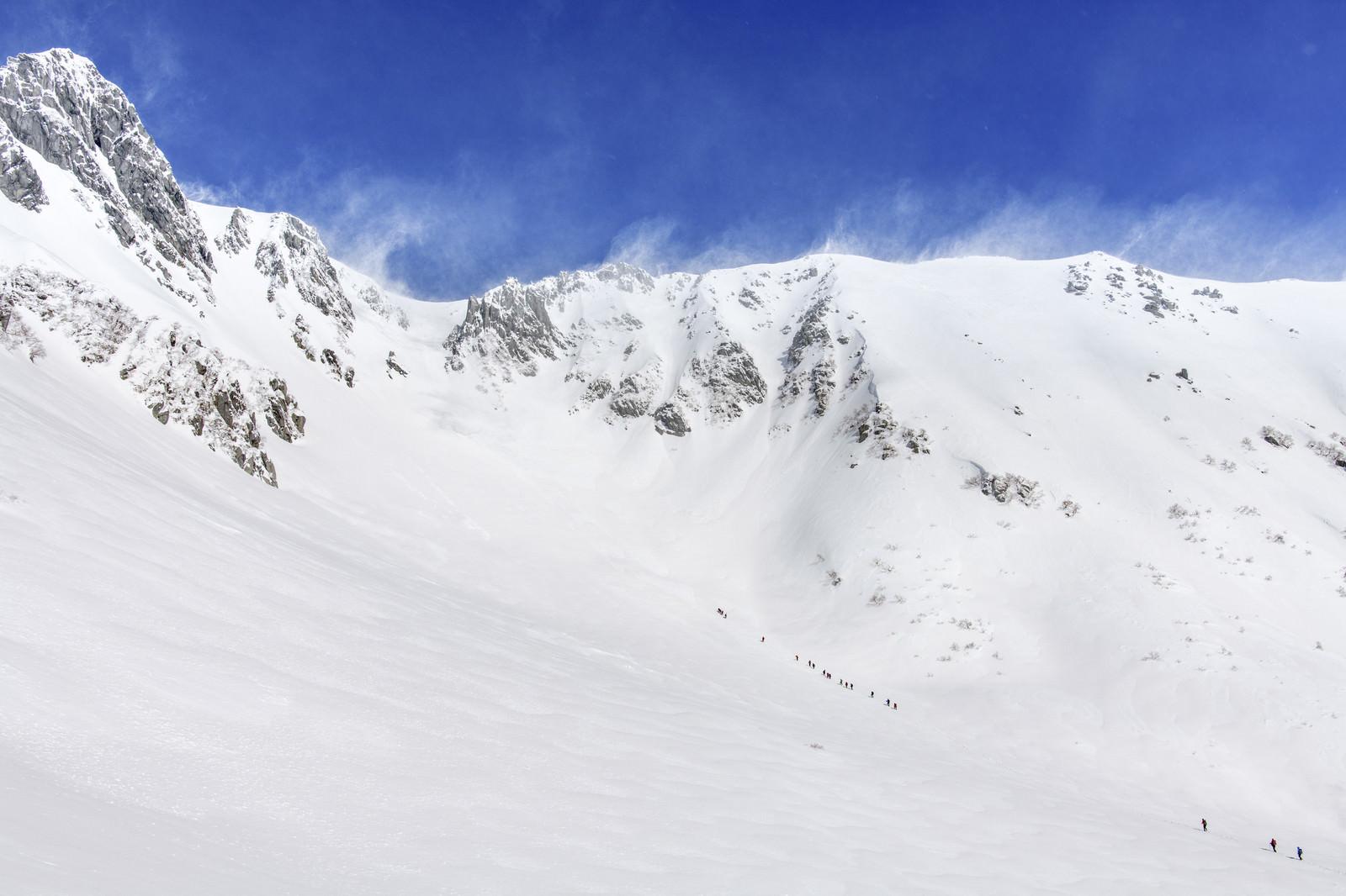 「強風の千畳敷カール(中央アルプス)」の写真