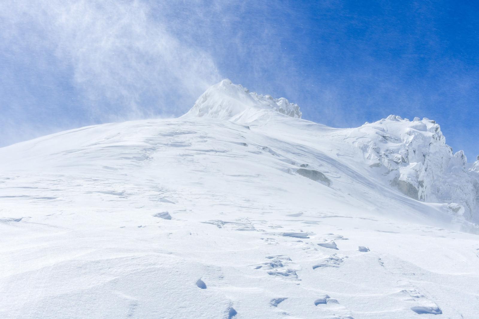 「氷点下の風雪」の写真