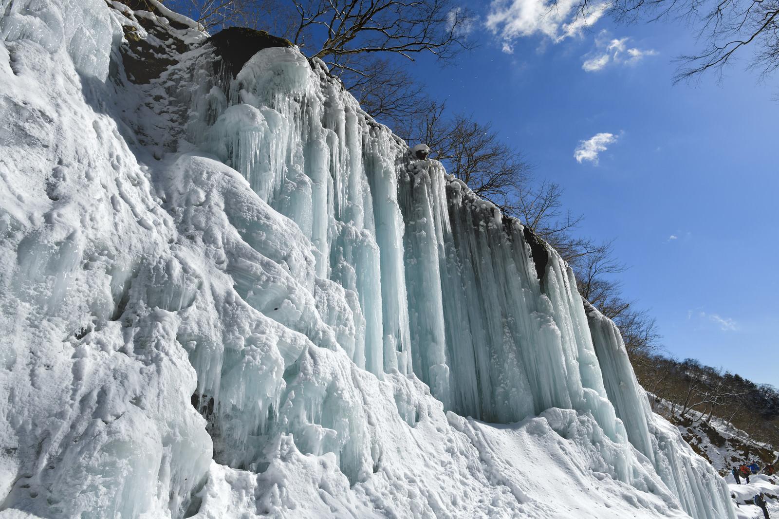 「雲竜渓谷の氷柱」の写真