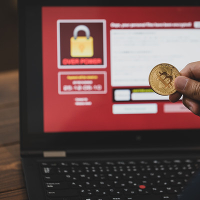 「ランサムウェアの身代金にビットコインが利用される」の写真素材